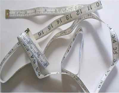 Tape Measure 150Cm Long X 16Mm White Metric Imperial Sewing Centimeters Inch