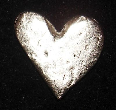 PEWTER COIN - HEART Pocket Coin with Description Card - Love