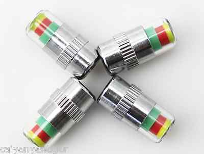 4 Pcs Motorcycle Tire Pressure Monitor Valve Stems Caps Covers Sensor For Harley