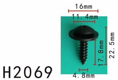 """10x 9.8mm Hex 23//32/"""" Car Phillips Oval Sems Washer Tapping Screws Fender Body"""