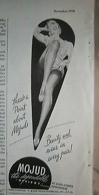 1946 Vintage Mojud Hosiery stockings Beauty and Wear Every Pair Ad
