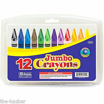12 jumbo crayons quality vibrant colours in a storage case good for little hands