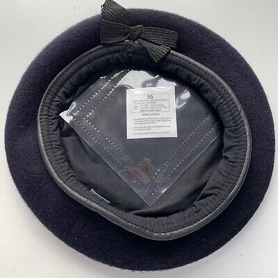 DARK BLUE ALL REGIMENTS WOOL BERET - New , Multiple sizes , British Army Issue