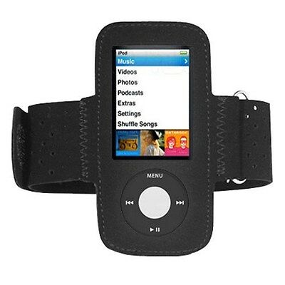 Black Sports Fitness Armband Running Gym Case Cover for iPod Nano 5th Gen 5G
