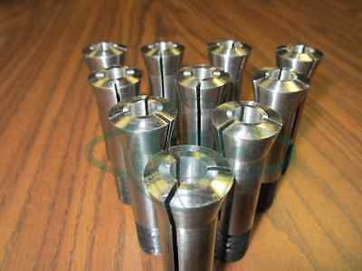 3C COLLETS, PRECISION ROUND COLLET SET--ANY 10 SIZES from our stock #C3---NEW