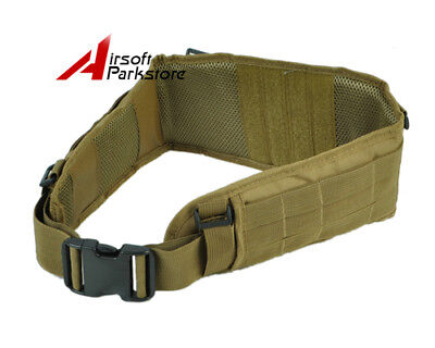 Molle Tactical Combat Outer Waist Padded Belt with H-Shaped Suspender - Tan