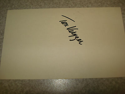 1973 Tom Veryzer Autograph Index card Rare 3X5 Signed Debut Year Auto Tigers