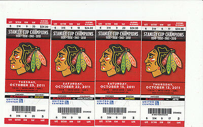 Chicago Blackhawks Vs Columbus Blue Jackets Full Ticket Stub 10/29/11