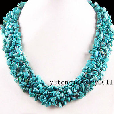 BB668 Wholesale Beautiful Turquoise Chip Necklace 17.5 inch
