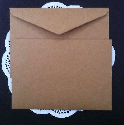 25 Envelopes Kraft Craft Recycled Brown C5 120GSM Thick Fits 1/2 A4