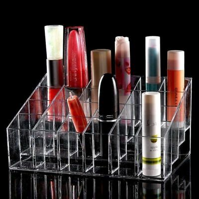 Clear Lipstick Lip Gloss Nail Polish Makeup Cosmetic Stand Display Rack Holder