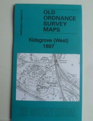 Old Ordnance Survey Maps Kidsgrove (West)  Staffordshire 1897 Godfrey Edition