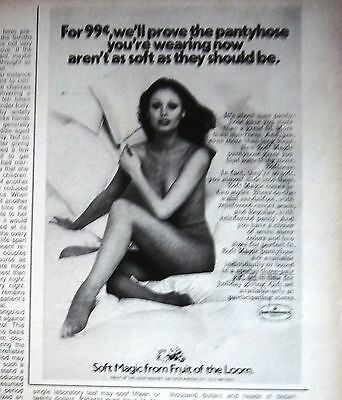 1972 Soft Magic Pantyhose Stockings from Fruit of the Loom Ad