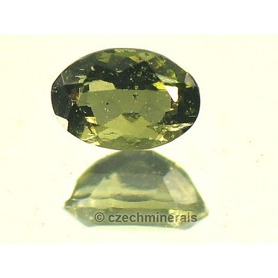 0.38cts oval normal cut 4x6mm moldavite faceted cutted gem #BRUS610