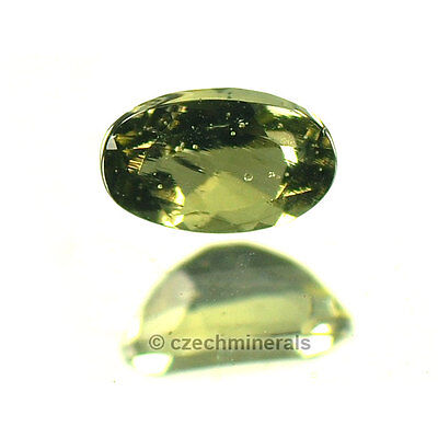 0.19cts oval normal cut 3x5mm moldavite faceted cutted gem #BRUS589