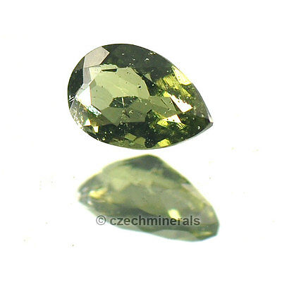 0.335cts pear normal cut 4x6mm moldavite faceted cutted gem #BRUS607