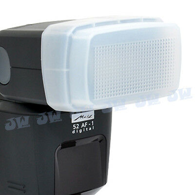 JJC Flash Bounce Diffuser Cap Dome White Box for METZ Mecablitz 52 AF-1, 44 AF-1