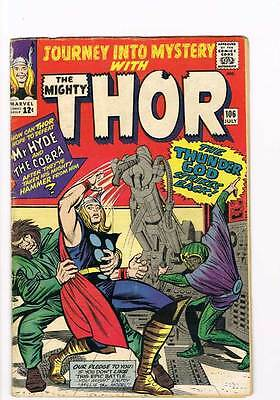 Journey into Mystery # 106 Kirby Thor grade 5.0 - movie super scarce hot book !!