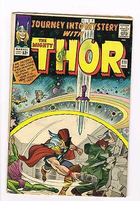 Journey into Mystery # 111 Kirby Thor grade 5.0 - movie super scarce hot book !!
