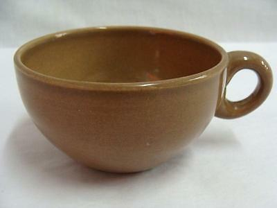 """IROQUOIS RUSSEL WRIGHT CASUAL CHINA BROWN  PATTERN CUP ONLY 2-1/8"""" HIGH"""