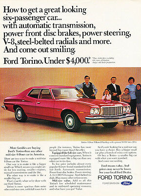 1975 Ford Torino - Classic Vintage Car Advertisement Ad J40