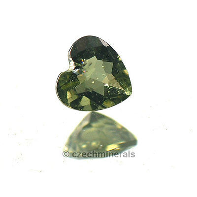 0.36cts heart C/B cut 5mm moldavite faceted cutted gem #BRUS588