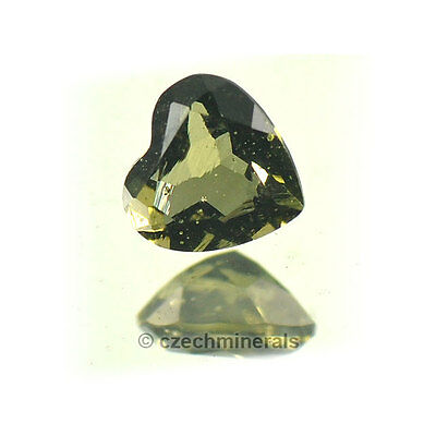 0.37cts heart normal cut 5mm moldavite faceted cutted gem #BRUS614