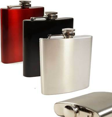 E-Volve Hip flask 6 oz stainless steel & Genuine leather Options