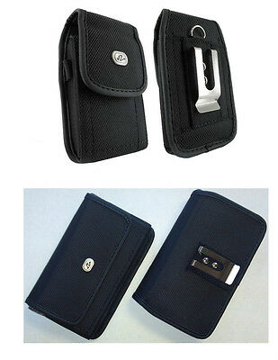 Vertical + Horizontal Rugged Case Cover Pouch Clip for Verizon Wireless Phones