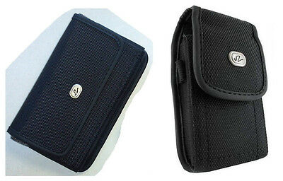 Heavy Duty Vertical + Horizontal Rugged Case Cover Pouch Clip for ATT Phones