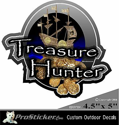 "ProSticker 502 (One) 4.5""  Treasure Hunter Decal Sticker Metal Detecting"