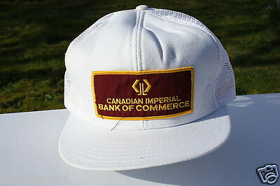 Ball Cap Hat - Canadian Imperial Bank of Commerce - White - CIBC (H662)