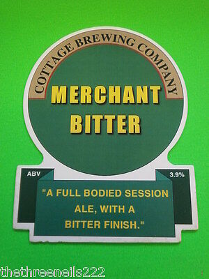 Beer Pump Clip - Cottage Brewing Merchant Bitter