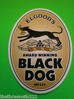 Beer Pump Clip - Elgood's Black Dog
