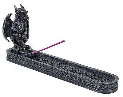 Medieval Dragon Incense Burner Holder Collectible Statue Figurine #93