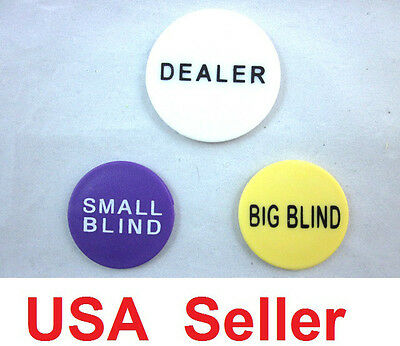 Small Blind, Big Blind and Dealer Button Poker Lot Best Price USA Seller