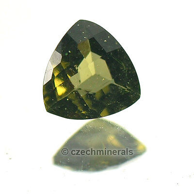 0.33cts trill C/B cut 5mm moldavite faceted cutted gem BRUS592