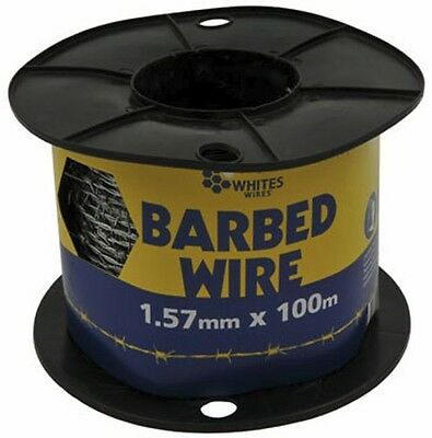 100m Barbed Wire Handy Pack Carton 1.57mm Fencing Wire