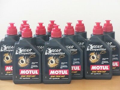 15,80€/l Motul Gear Competition SAE 75W-140  10 x 1 L