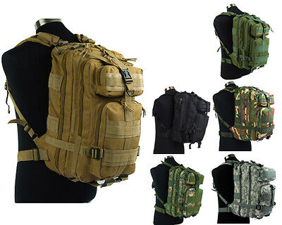 Airsoft Molle Tactical MOD Hydration Assault Backpack Bag 6 Colors BK/TAN/OD/ACU