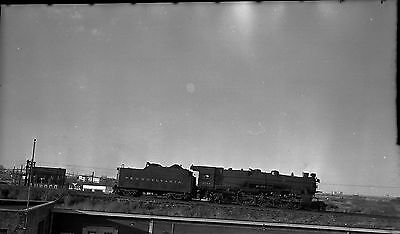 Original Negative Photo Pennsylvania Railroad Locomotive Taken From Rooftop 139