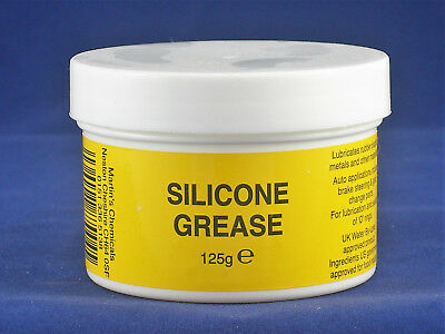 Silicone Grease 125g pot water/food industry standard - for plastics & rubber