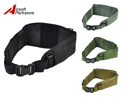 Airsoft Molle Tactical Waist Padded Combat Belt with Suspender Military Hunting