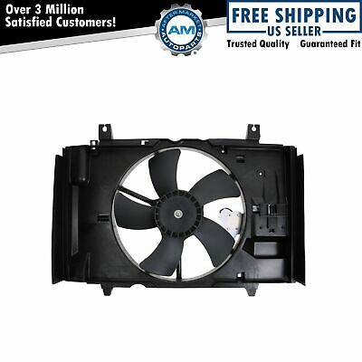 Dual Radiator Cooling Fan Motors Blades Shroud Assembly for 02-06 X-Type