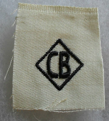 "Wwii ""c.b."" Distinguishing Mark On White Twill In Diamond Variant Rate"