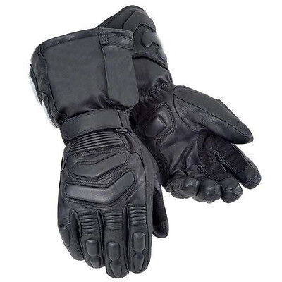 New Motorcycle Winter Thermal Waterproof Breathable Leather Biker Gloves S - 3XL