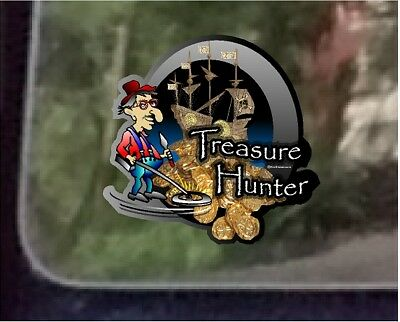 "ProSticker 507 (One) 4"" Treasure Hunter Decal Sticker Metal Detecting"