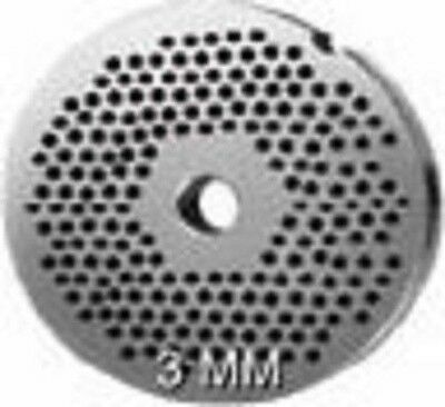 "20/22 S/S Meat Grinder Plate 3mm (1/8"" Hole)"