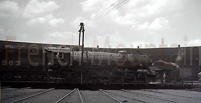 Original Negative Photo Railroad L&N Steam Locomotive at Roundhouse 1940s 192