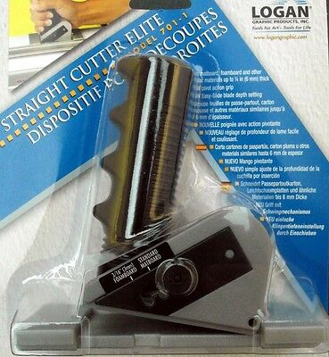 Logan 701-1 Straight Cutter - New Hinged version - for Mount Boards, Card etc
